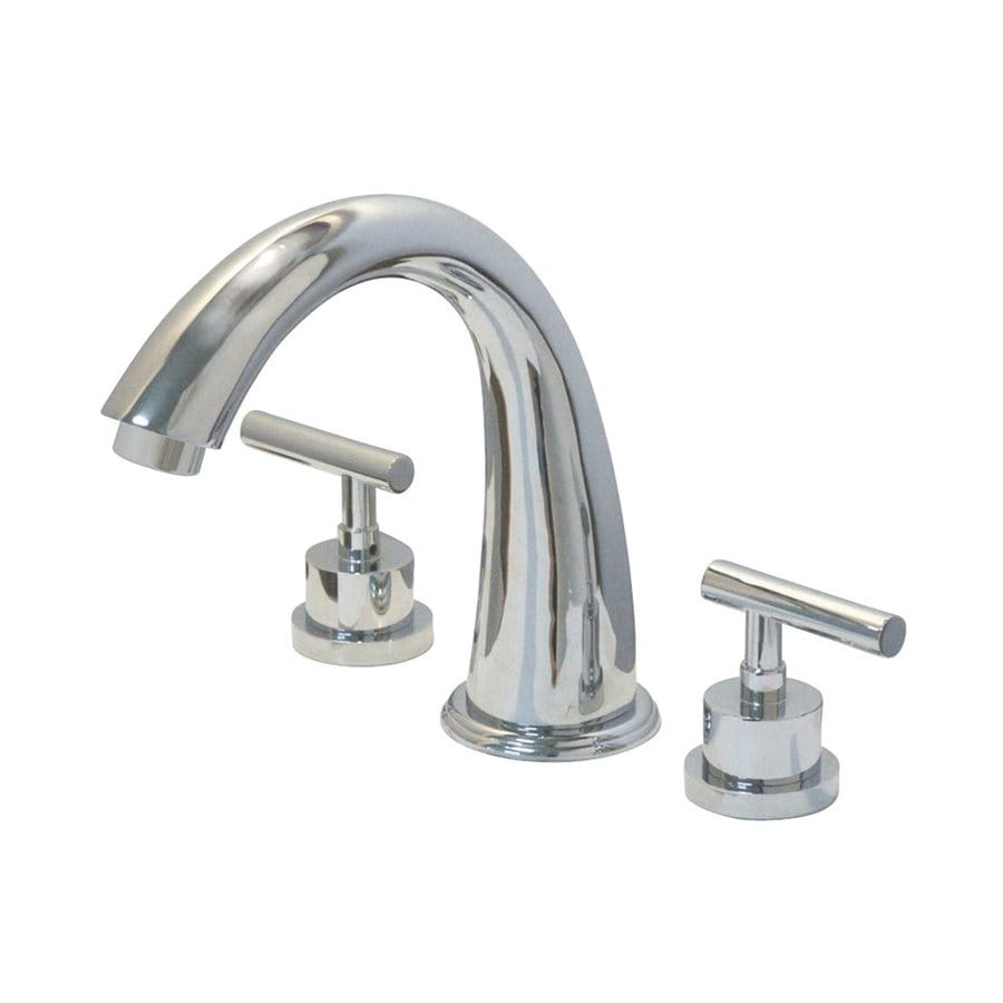 Elements of Design Manhattan Polished Chrome 2-Handle Adjustable Deck Mount Bathtub Faucet