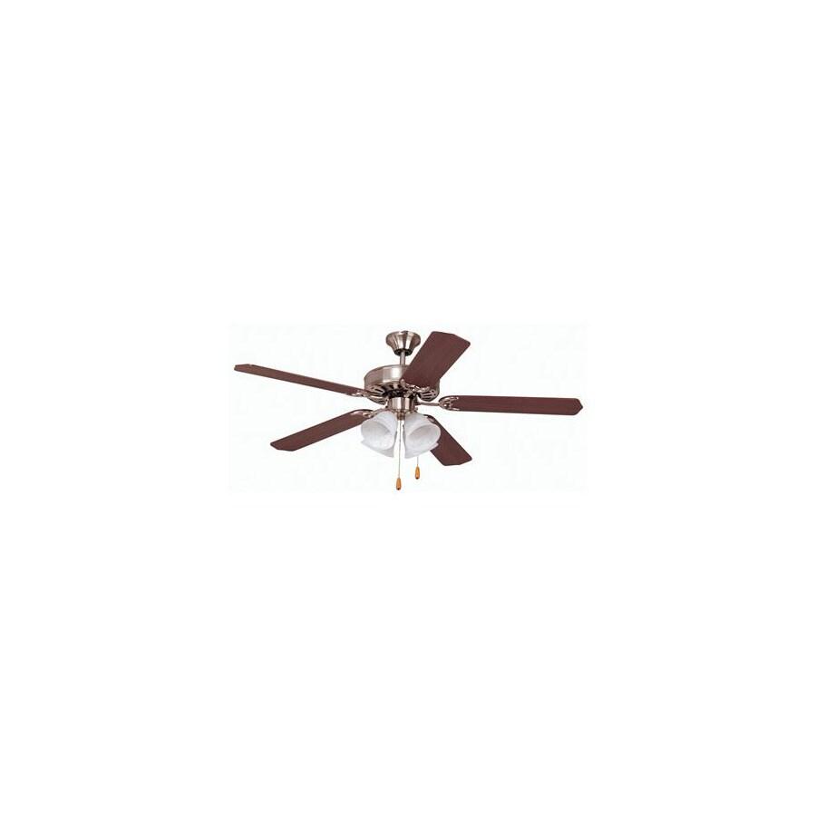 Yosemite Home Decor 52-in Builder Dark Brown Ceiling Fan with Light Kit