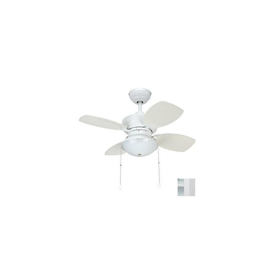 Yosemite Home Decor 28-in Hurricane White Ceiling Fan with Light Kit