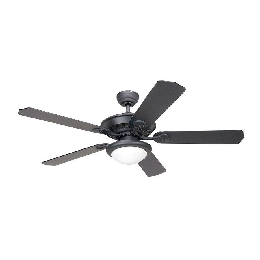 Yosemite Home Decor Lindsey 52-in Venetian Bronze Downrod or Flush Mount Ceiling Fan with Light Kit and Remote Control