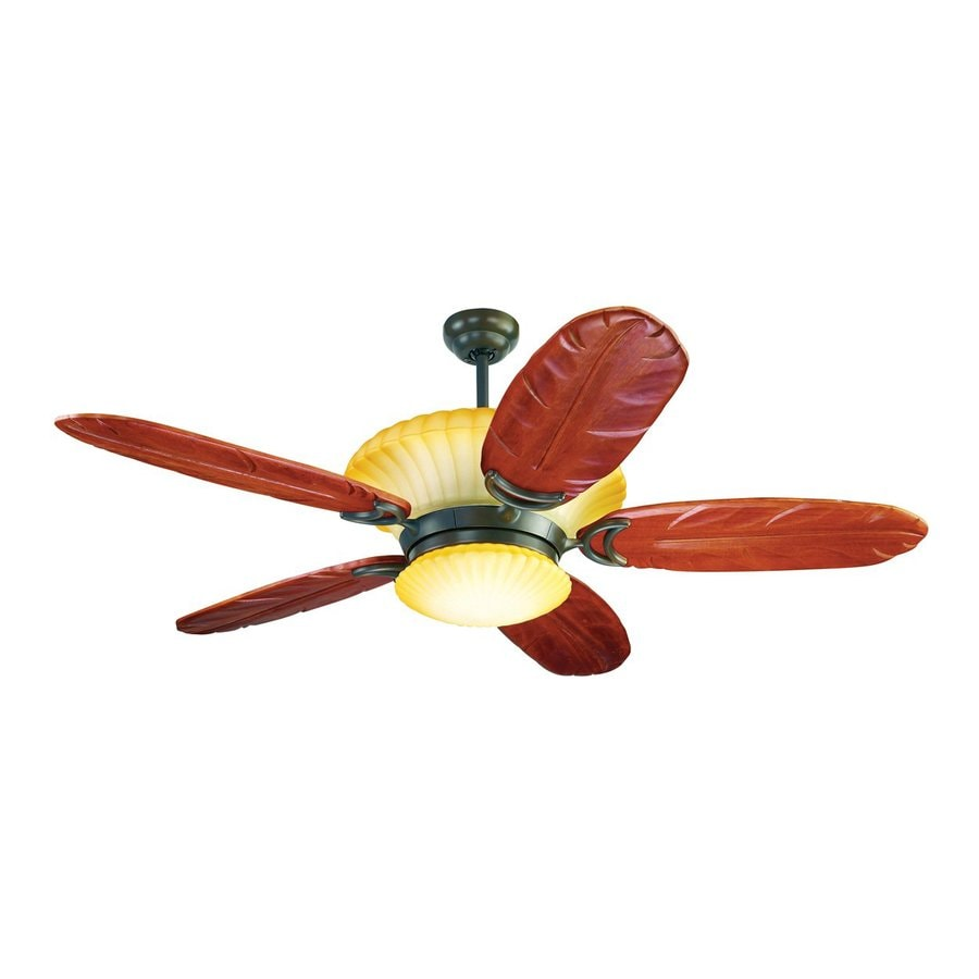 Yosemite Home Decor Maui Breeze 56-in Oil-Rubbed Bronze Downrod Mount Ceiling Fan with Light Kit and Remote Control