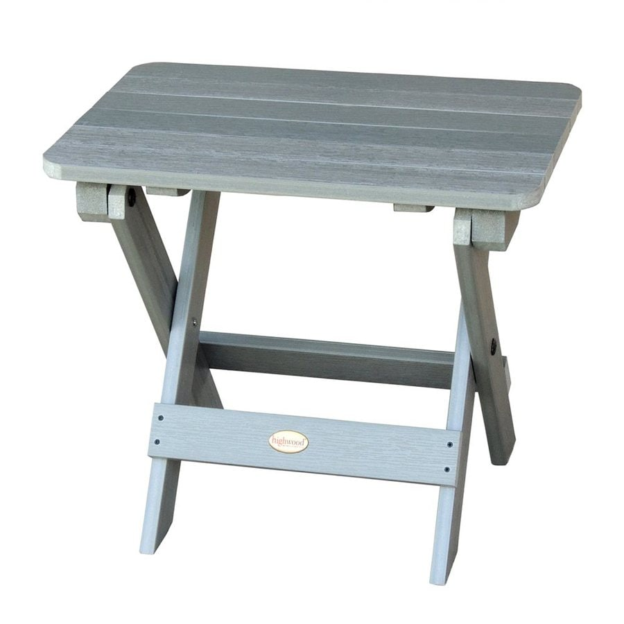 Highwood USA Adirondack 14-in W x 20-in L Rectangle Plastic Folding End Table