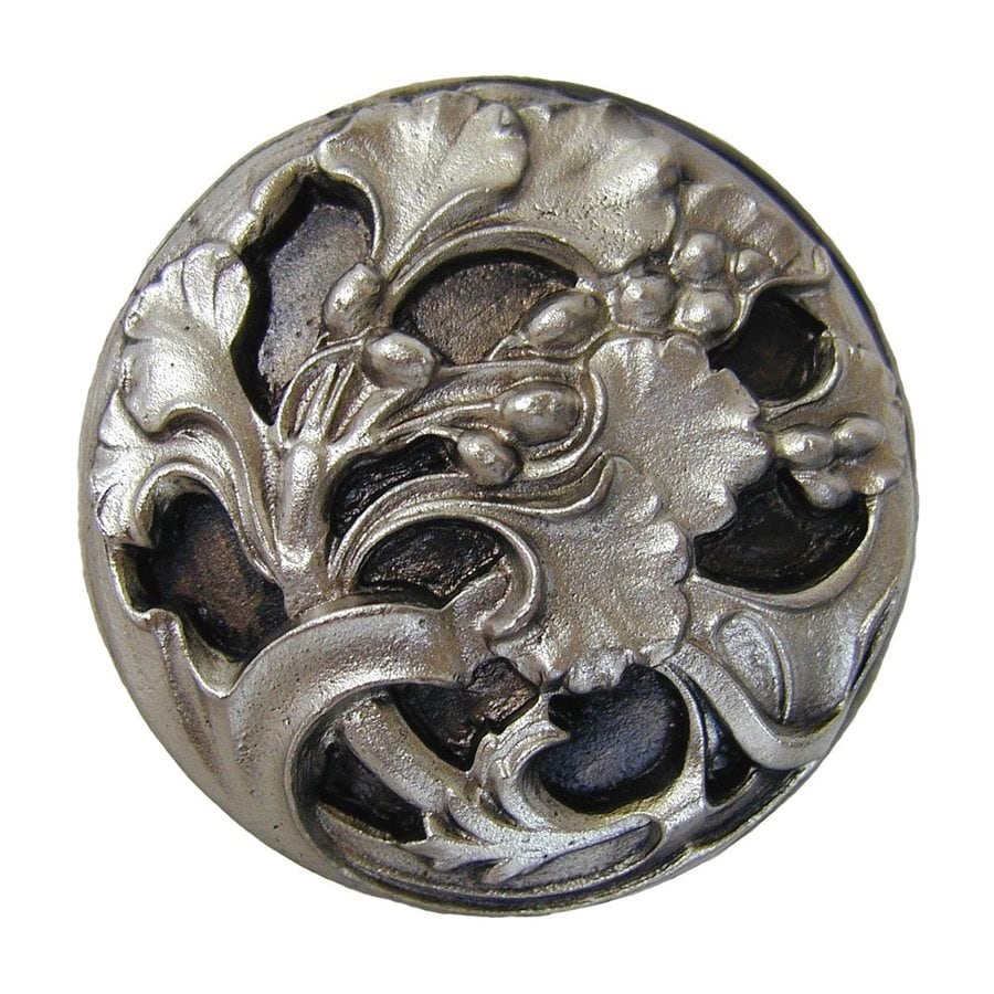 Notting Hill 1-3/8-in Nickel Floral Round Cabinet Knob
