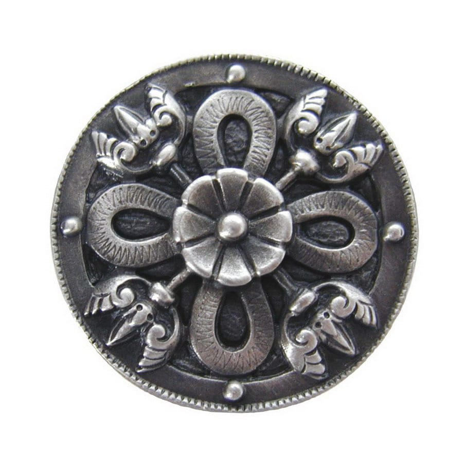 Notting Hill 1-1/8-in Pewter Jewel Round Cabinet Knob