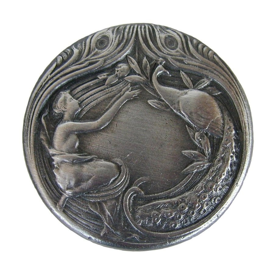 Notting Hill 1-3/8-in Pewter All Creatures Round Cabinet Knob