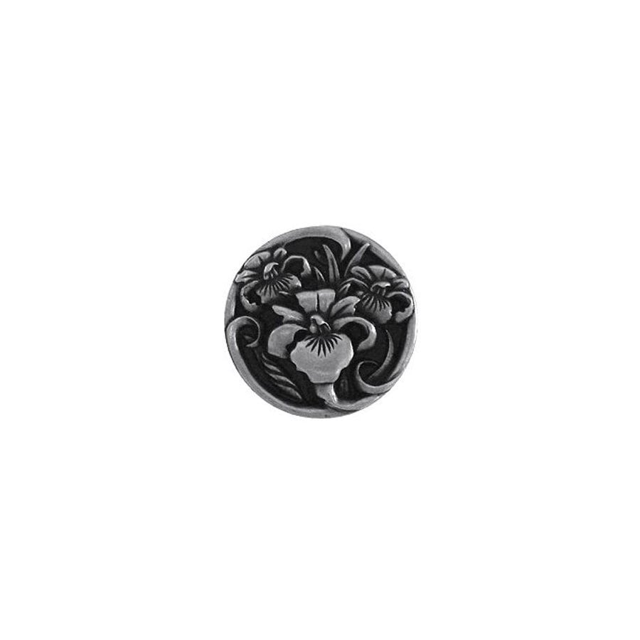 Notting Hill 1-3/8-in Pewter Floral Round Cabinet Knob