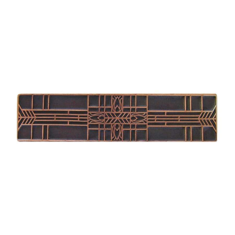 Notting Hill 3-in Center-to-Center Antique Copper Arts and Crafts Rectangular Cabinet Pull