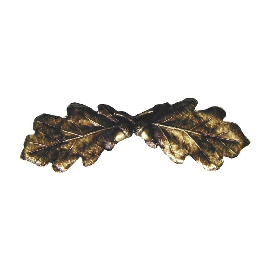 Notting Hill 3-in Center-to-Center Antique Brass Leaves Cabinet Pull