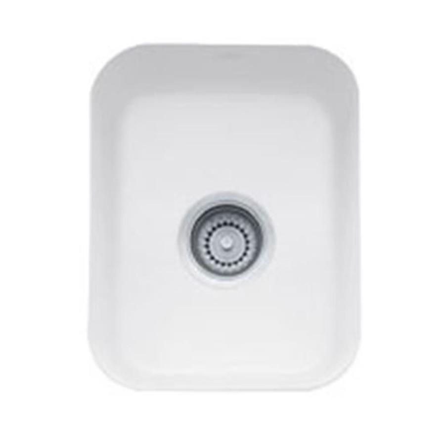 White Franke Sink : Shop Franke Cisterna White Fireclay Undermount Residential Bar Sink at ...