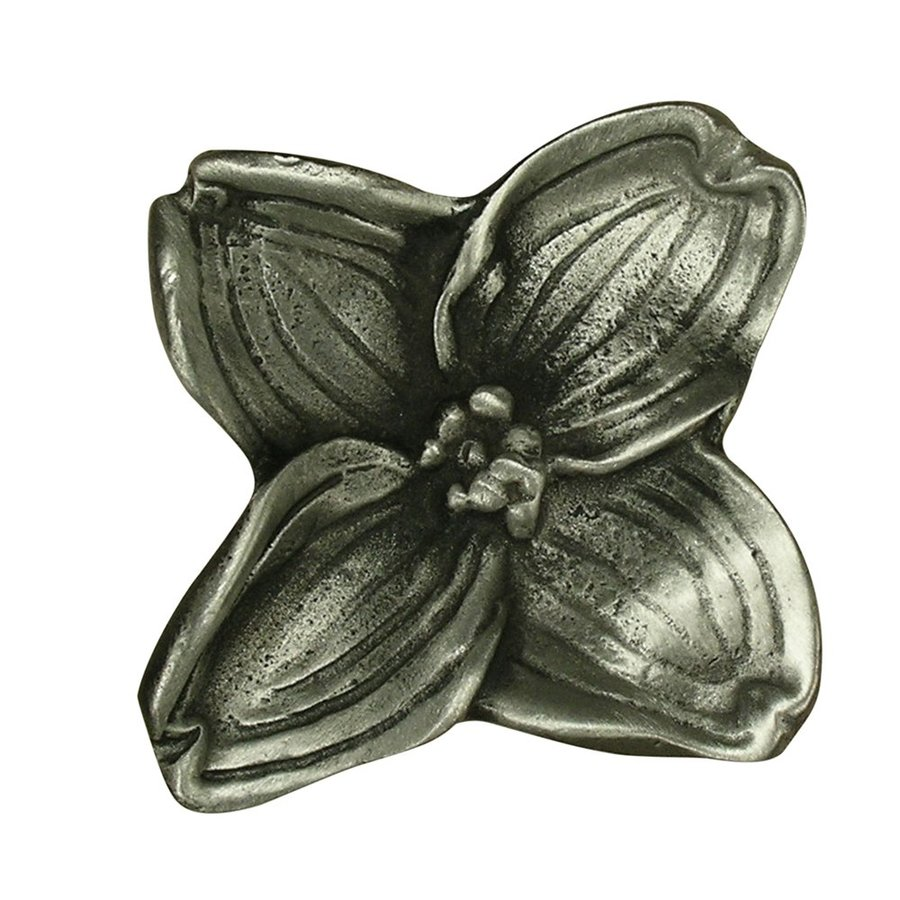 Anne at Home Gardening and Flowers Pewter Matte Novelty Cabinet Knob