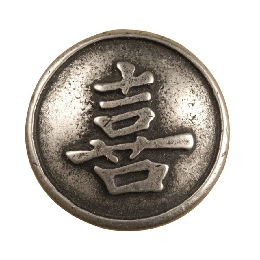 Anne at Home Asian Pewter Matte Round Cabinet Knob