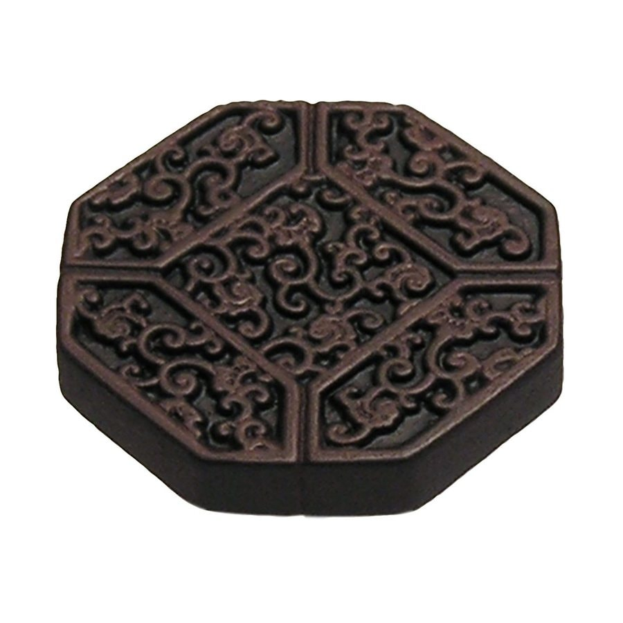 Anne at Home Asian Rust with Black Wash Octangular Cabinet Knob
