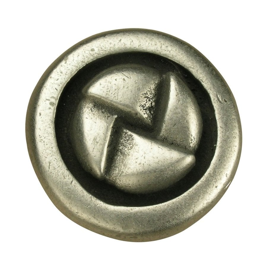 Anne at Home Contemporary Pewter Matte Round Cabinet Knob