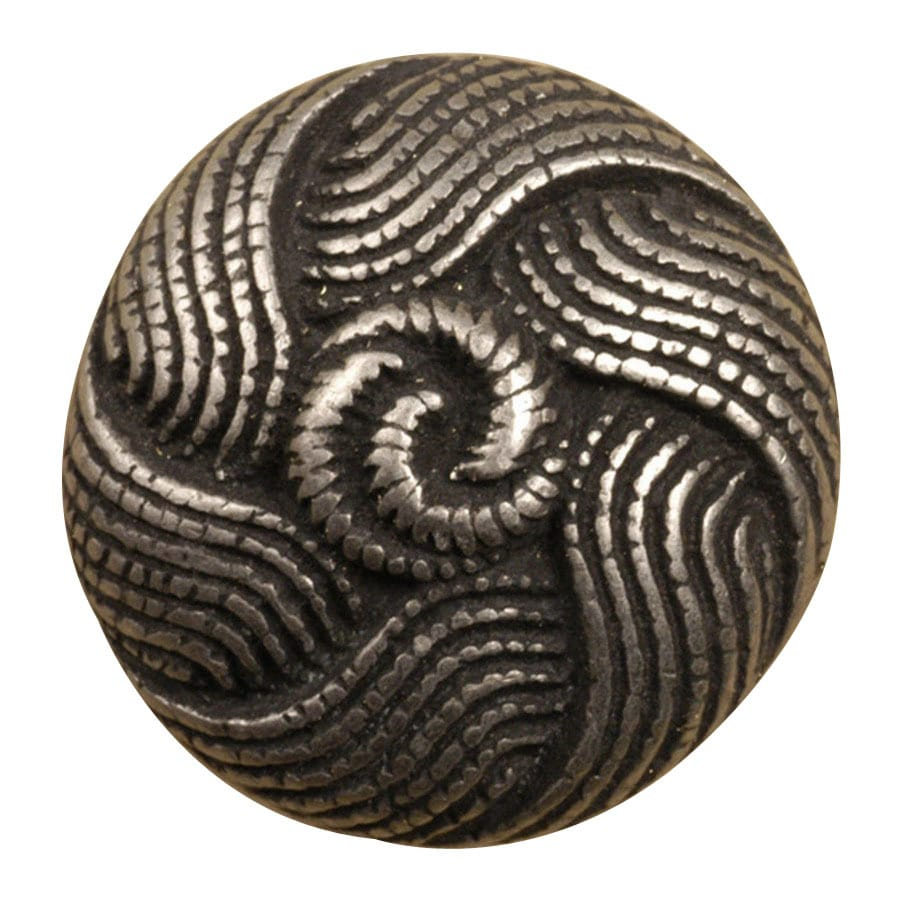Anne at Home By-The-Sea Pewter Matte Round Cabinet Knob