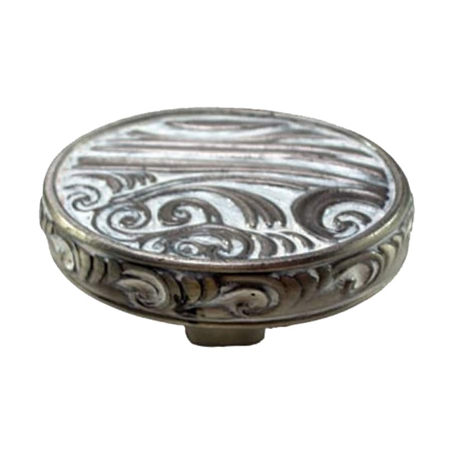 Anne at Home Pacific Dreams Pewter with White Wash Oval Cabinet Knob