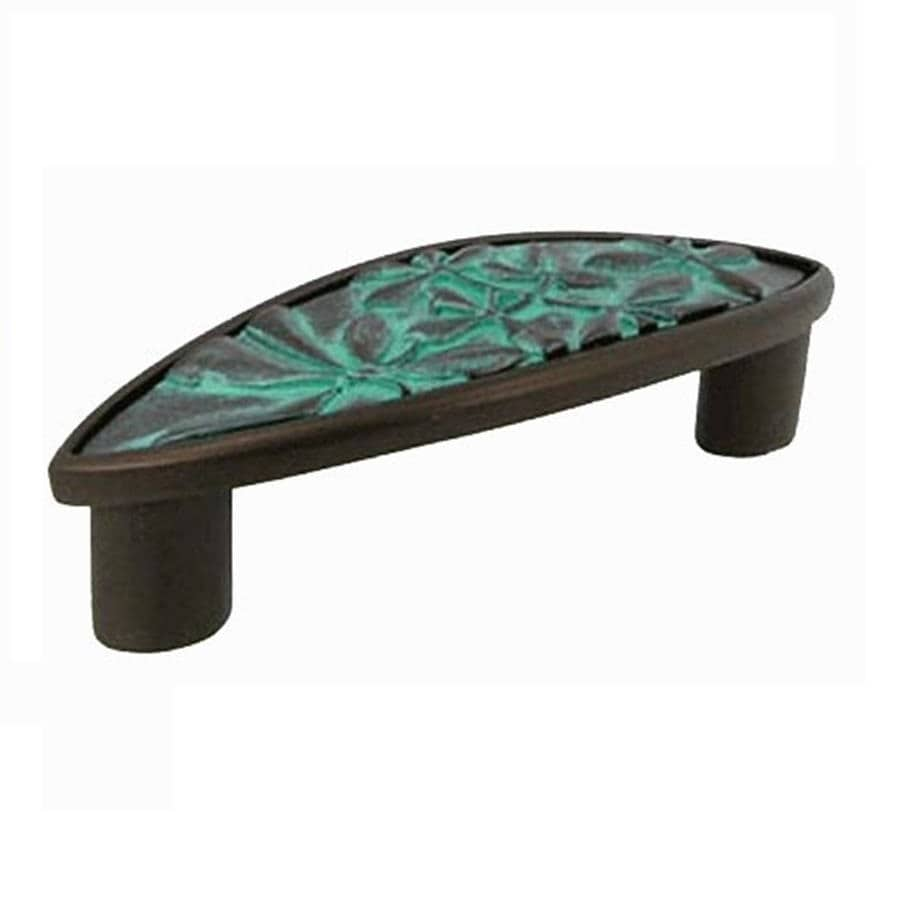 Anne at Home 3-In Center-To-Center Verdigris Haiku Arched Cabinet Pull