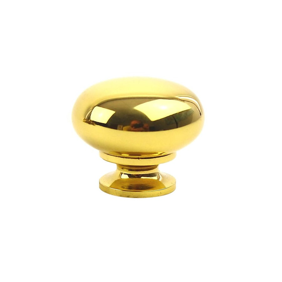 Century Hardware Saturn Polished Brass Mushroom Cabinet Knob