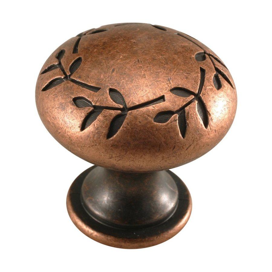 Century Hardware Hamilton Aged Copper/Antique Copper Mushroom Cabinet Knob