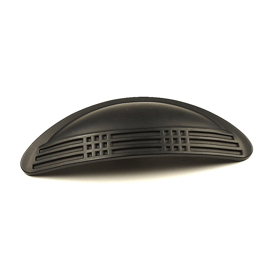 Century Hardware 3-in Center-To-Center Matte Black Majestic Cup Cabinet Pull