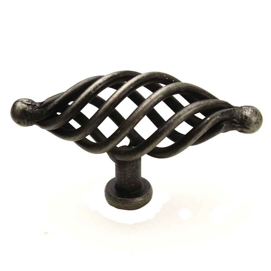 Shop century hardware saxon wrought iron oval cabinet knob for Wrought iron cabinet pulls