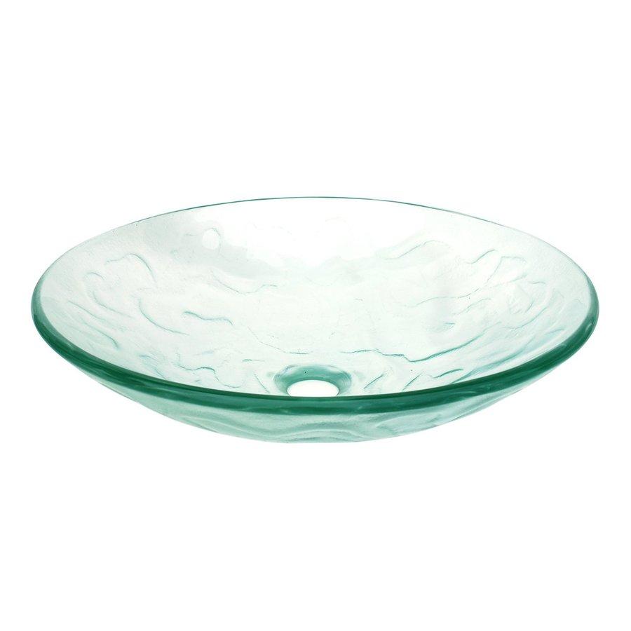 Eden Bath Clear Glass Vessel Round Bathroom Sink