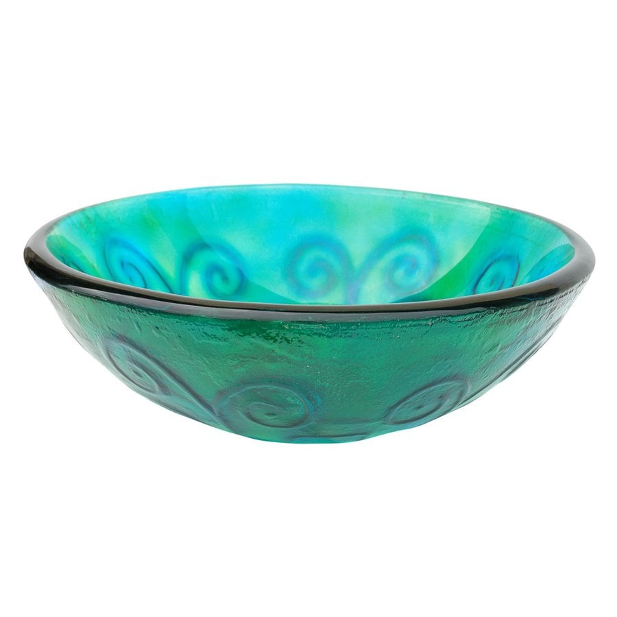 Vessel Sinks Lowes : Shop Eden Bath Green Glass Vessel Round Bathroom Sink at Lowes.com