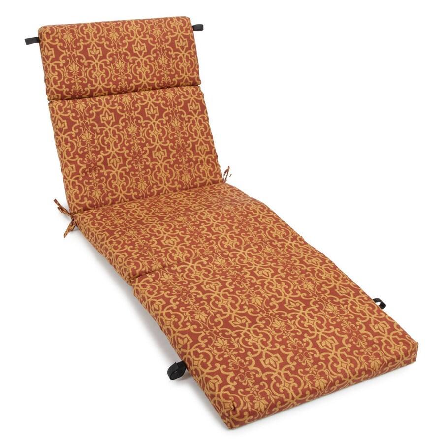 Blazing Needles Vanya Paprika Damask Cushion For Chaise Lounge