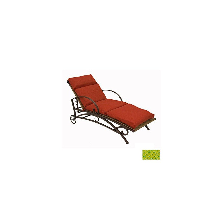 Blazing Needles Titus Terrace Apple Patio Chaise Lounge Cushion