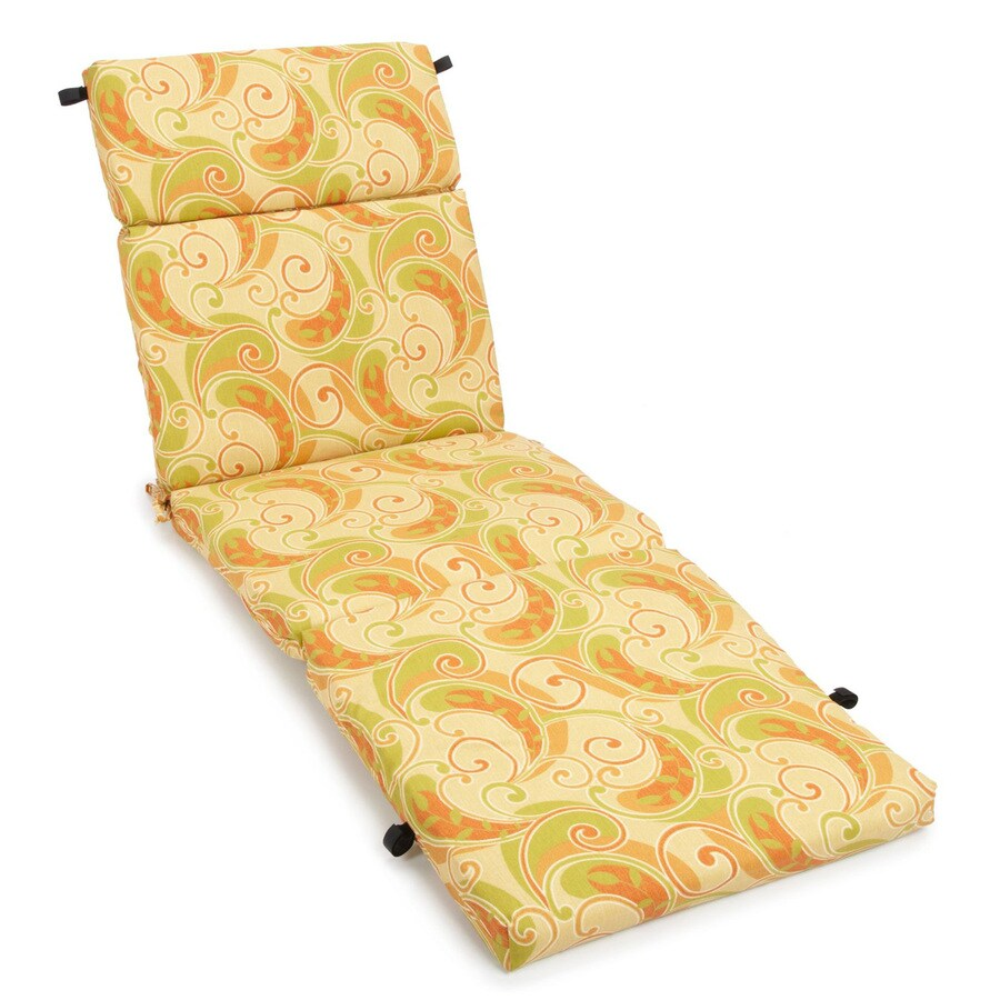 Blazing Needles Barclay Terrace Honey Paisley Cushion For Chaise Lounge