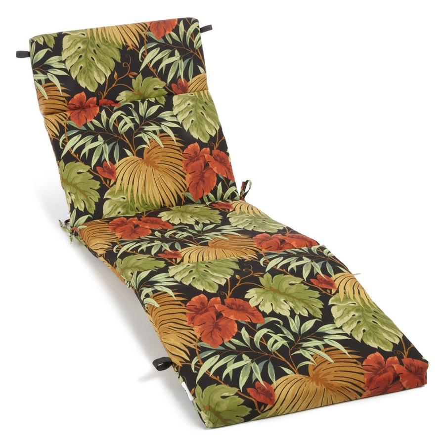 Blazing Needles Tropique Raven Tropical Cushion For Chaise Lounge