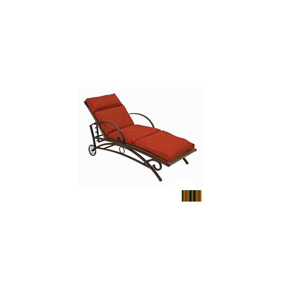 Shop blazing needles lyndhurst raven patio chaise lounge for Blazing needles chaise cushion