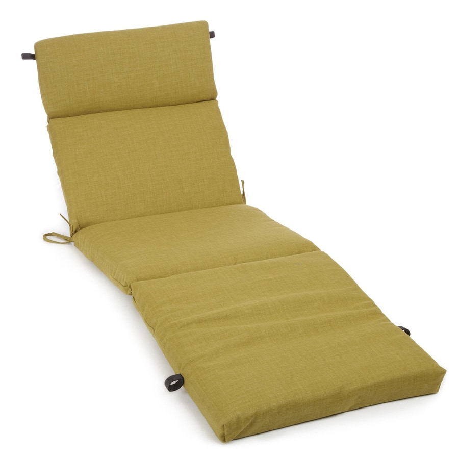 Shop blazing needles avocado solid cushion for chaise for Blazing needles chaise cushion
