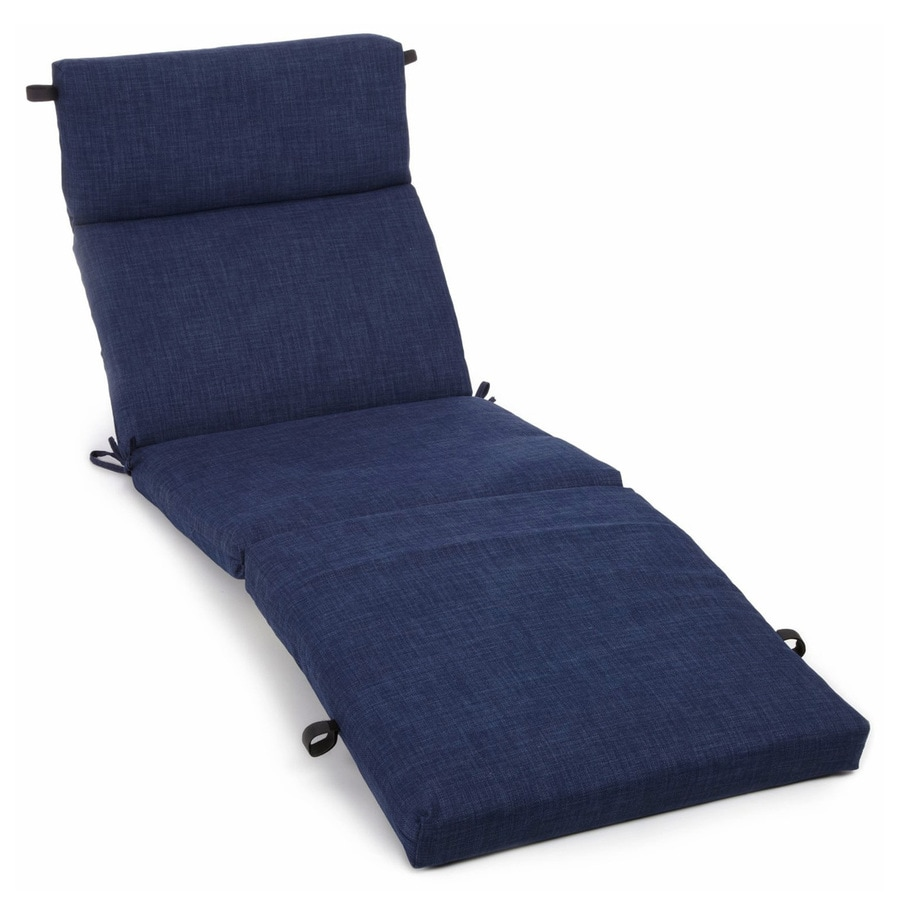 shop blazing needles azul solid cushion for chaise lounge