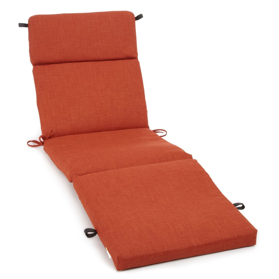 Shop blazing needles cinnamon solid cushion for chaise for 24 wide chaise lounge cushions
