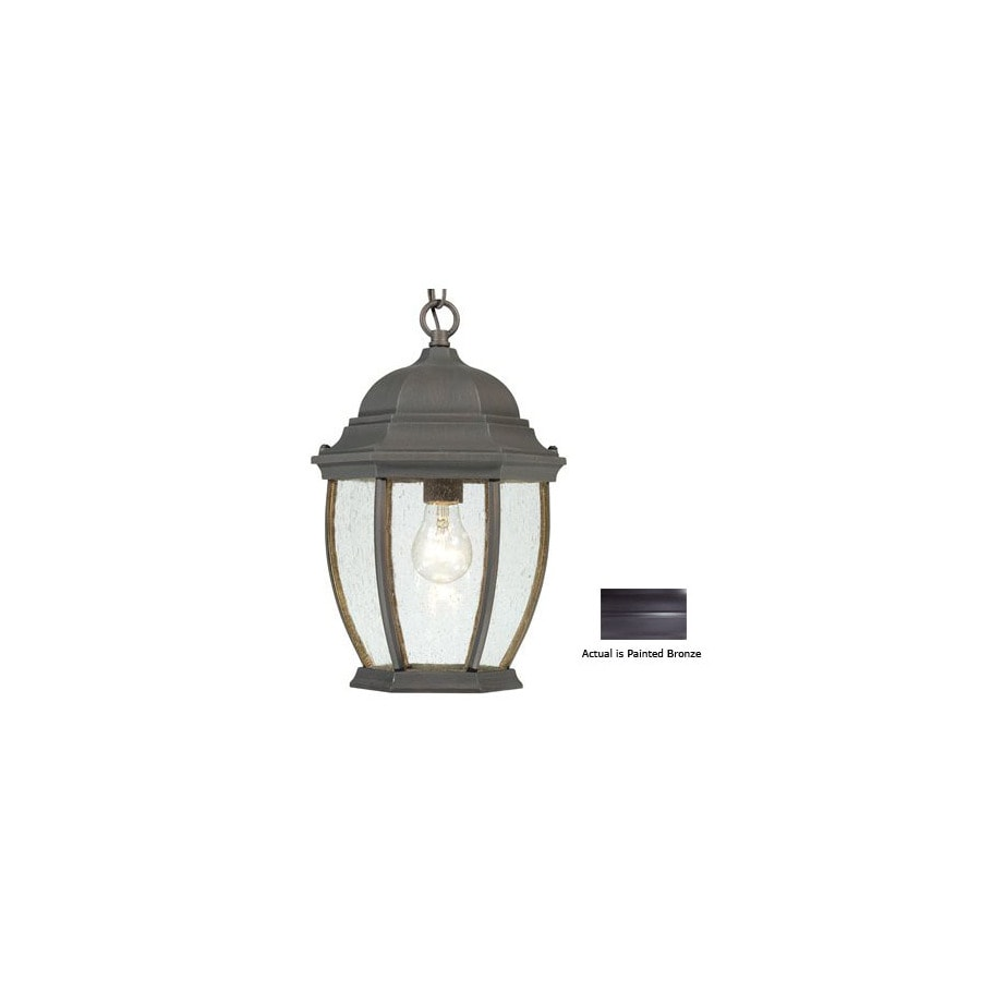 Thomas Lighting Convington 14-in Painted Bronze Outdoor Pendant Light