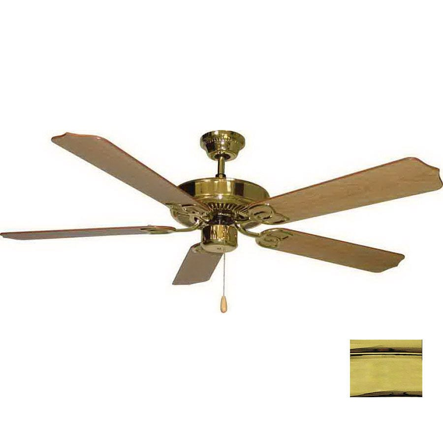 Volume International 52-in Marti Polished Brass Ceiling Fan ENERGY STAR