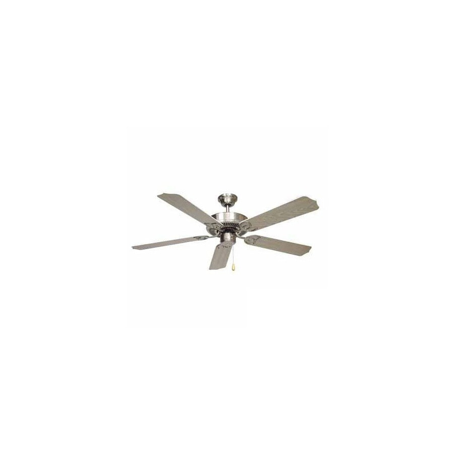 Volume International 52-in Minster Polished Brass And White Ceiling Fan