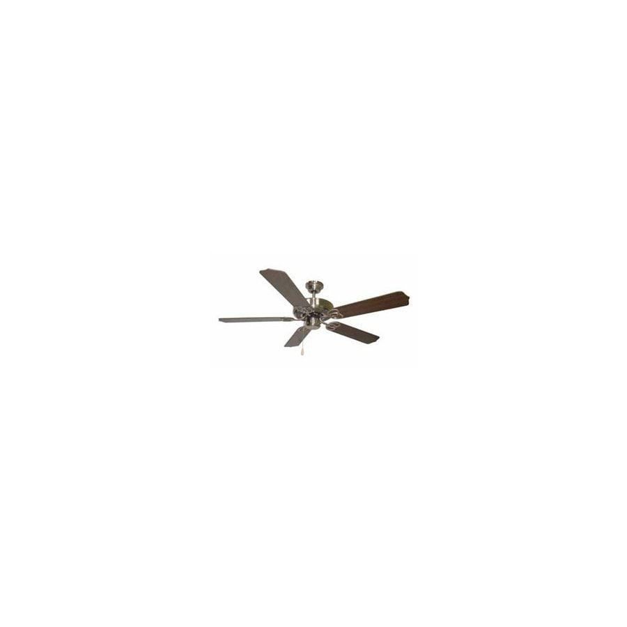 Volume International 52-in Brushed Nickel Ceiling Fan