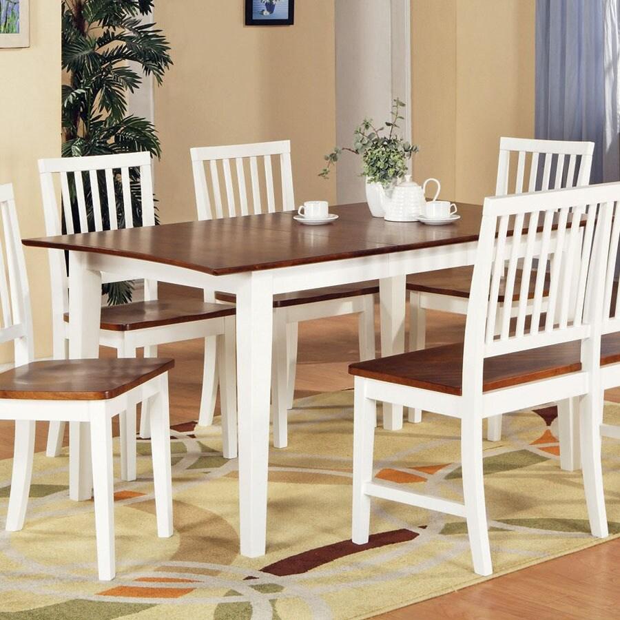 Steve Silver Company Branson White/Oak Rectangular Dining Table