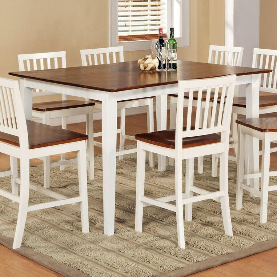 Steve Silver Company Branson White/Oak Square Dining Table