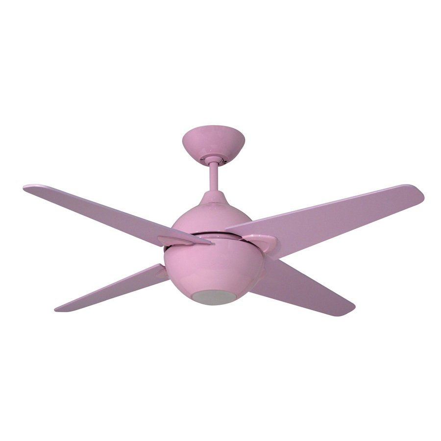Shop yosemite home decor spectrum 42 in pink indoor downrod mount ceiling fan with light kit and Home decorations light kit