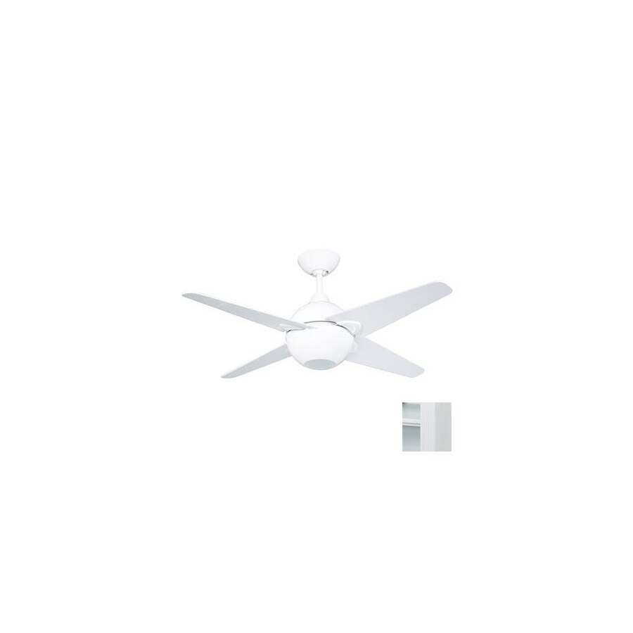 Yosemite Home Decor 42-in Spectrum White Ceiling Fan with Light Kit and Remote