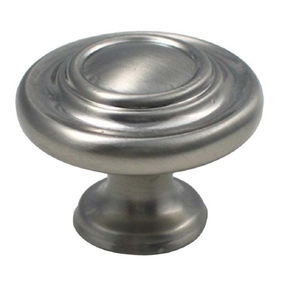 Shop Rusticware Traditional Satin Nickel Round Cabinet