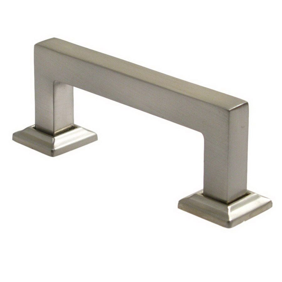 Rusticware 3-in Center-To-Center Satin Nickel Modern Rectangular Cabinet Pull