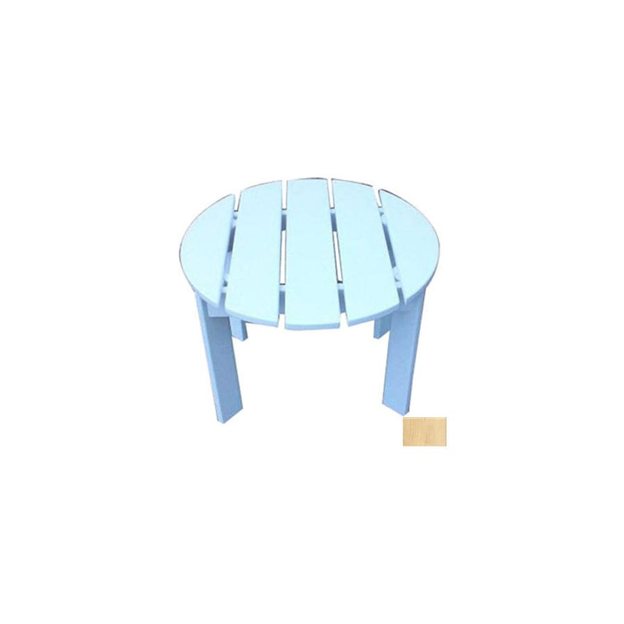 Prairie Leisure Design 22-in x 22-in Unfinished Aspen Wood Round Patio Side Table