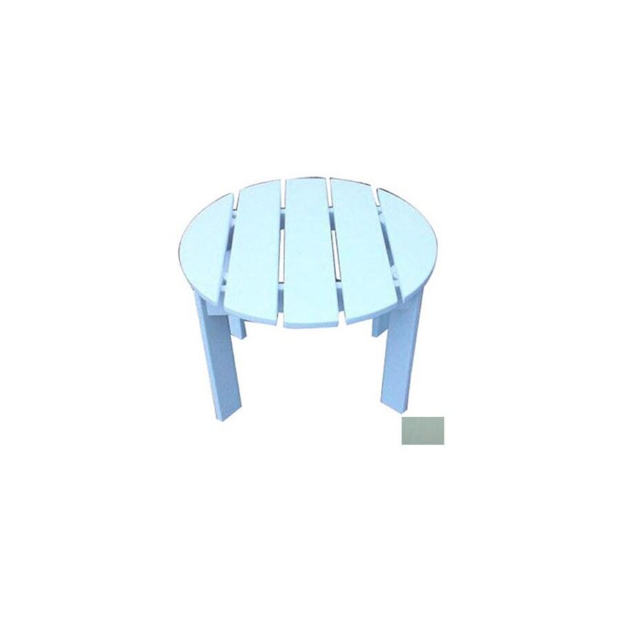 Prairie Leisure Design 22-in x 22-in Sage Wood Round Patio Side Table