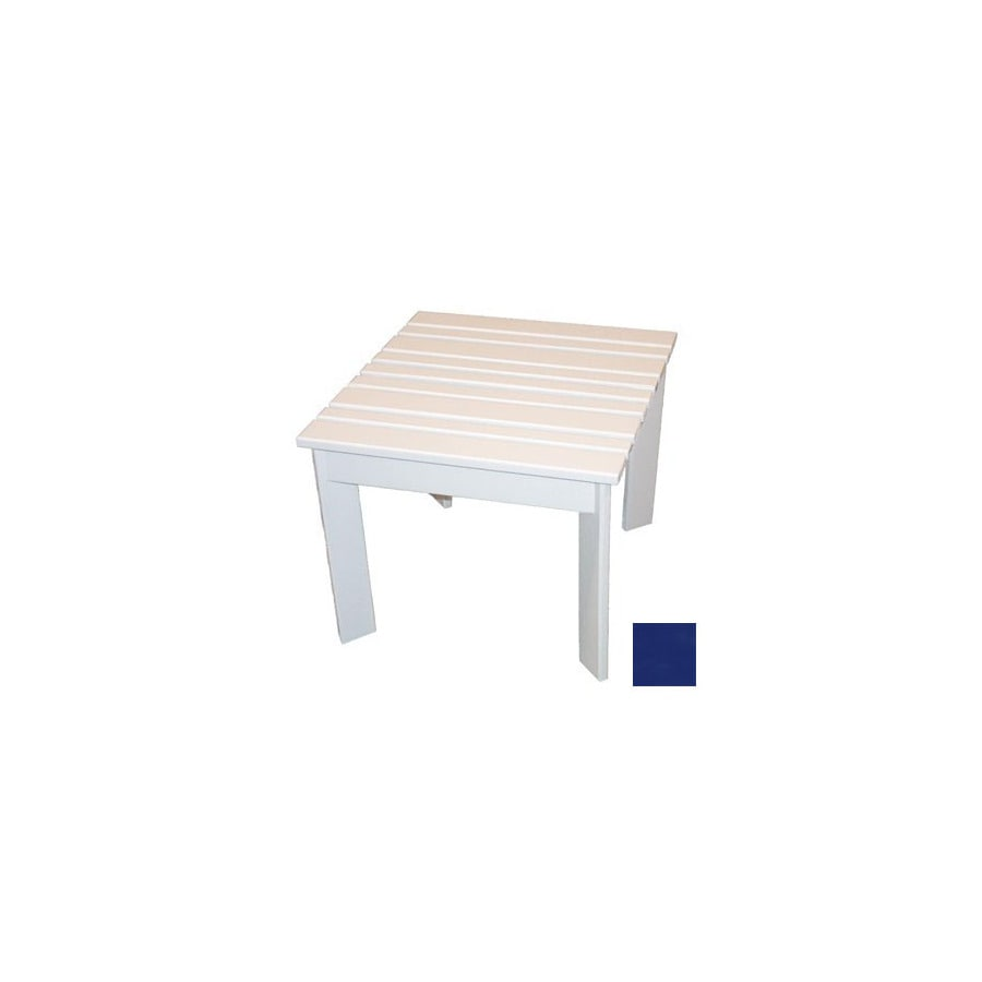 Prairie Leisure Design 20-in x 20-in Berry Blue Wood Square Patio Side Table
