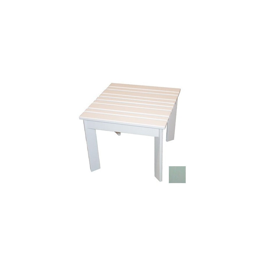 Prairie Leisure Design 20-in x 20-in Sage Wood Square Patio Side Table