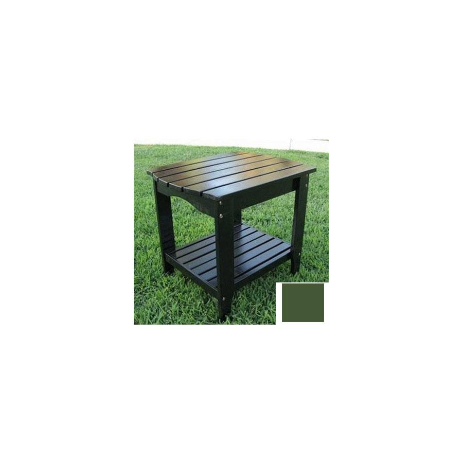 Shine Company 24-in x 19-in Sage Green Cedar Rectangle Patio Side Table