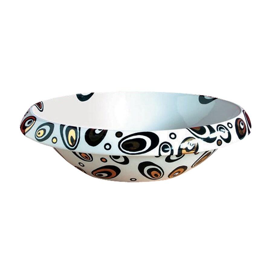 WS Bath Collections Ceramica Galaxy Ceramic Vessel Round Bathroom Sink